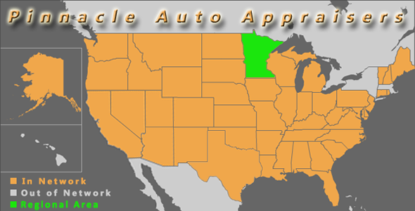 map minneapolis minnesota pinnacle auto appraisal appraiser diminished value inspection